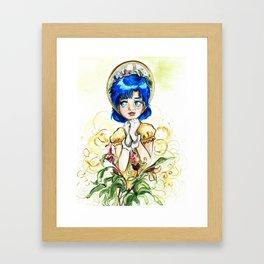 Sailor Jupiter Yellow Flower Framed Art Print