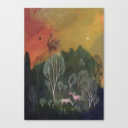 Moons of Shadow and Light Canvas Print