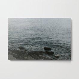 Gentle Ocean's Edge Metal Print
