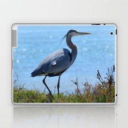 heron by the bridge Laptop & iPad Skin