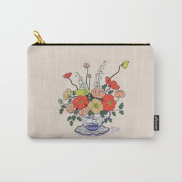 Teacup Flowers Carry-All Pouch