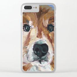 The Collie Sparky Clear iPhone Case
