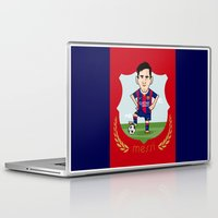 messi Laptop & iPad Skins featuring Lio Messi - Barcelona v2 by softdelusion