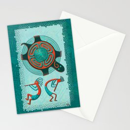 Visitors Anasazi Folk Art Stationery Cards