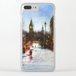 London in the Rain Clear iPhone Case