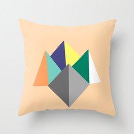 Paku Paku, original colours on peach Throw Pillow