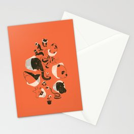 Cones of Shame (orange) Stationery Cards