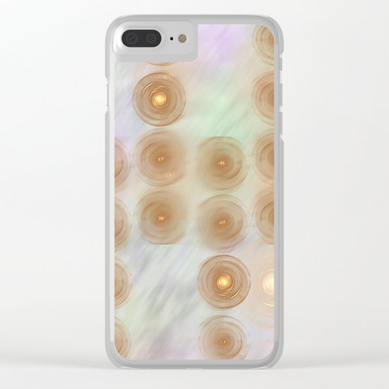 Abstract data crunching Clear iPhone Case