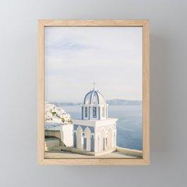 Pastel Blue Church Framed Mini Art Print