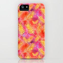 Watercolour Australian Native Floral Print - Grevillea Flowers iPhone Case
