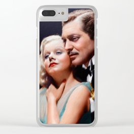 Clark Gable and Jean Harlow Clear iPhone Case