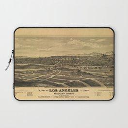 Aerial View of Los Angeles, California (1877) Laptop Sleeve