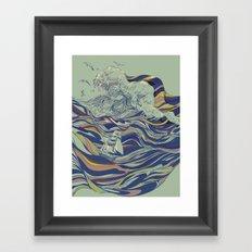 OCEAN AND LOVE Framed Art Print