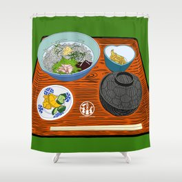 Kamakura Lunch Set Shower Curtain