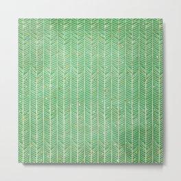 Green Christmas Metal Print