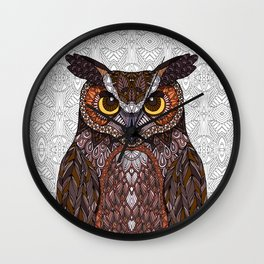 Great Horned Owl 2016 Wall Clock