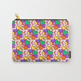 Color Hearts Carry-All Pouch