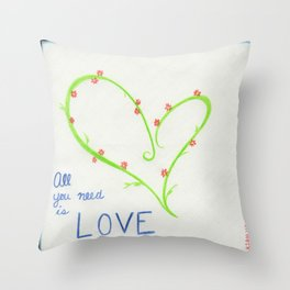Love, Cubed Throw Pillow