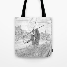 Tramp in search of identity Tote Bag