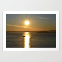Elliot Bay Sunset Art Print