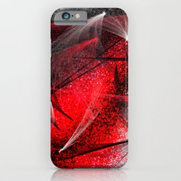 under the spotlight abstract digital painting iPhone Case