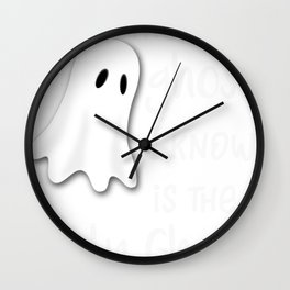 Halloween Religous The Holy Ghost is the Only Ghost I Know Christian Wall Clock