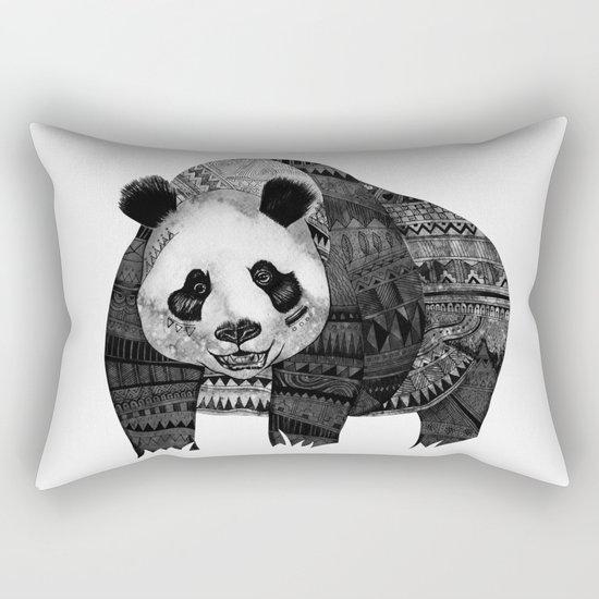 """""""Native Youth Panda""""  Rectangular Pillow"""