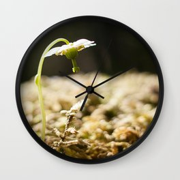 Shy Maiden Photography Print Wall Clock