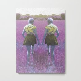 A walk through the grass Metal Print