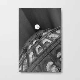 Colosseum in Rome Black and White Metal Print