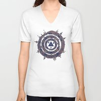 cycle V-neck T-shirts featuring The Cycle by Hector Mansilla