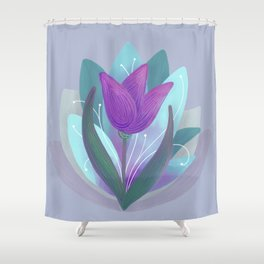 Tulip and Lotus Blossom Shower Curtain