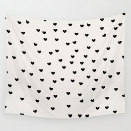 Lots of Little Hearts Brush Strokes Pattern Wall Tapestry