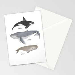 whale.whale.whale. Stationery Cards