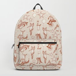 foxy circus rust ivory Backpack