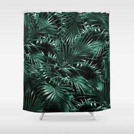 Tropical Palm Leaf Jungle Night #1 #tropical #decor #art #society6 Shower Curtain