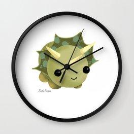 BABY DINOSAUR / TRICERATOPS / CUTE MONSTER Wall Clock