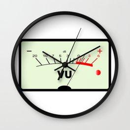 Audio Meter Wall Clock