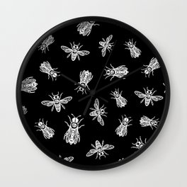 occult bees Wall Clock