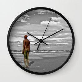 Gormleys Iron Man (Digital Art) Wall Clock