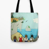 narnia Tote Bags featuring Ruins in Narnia? by Deer Heart Sly Fox