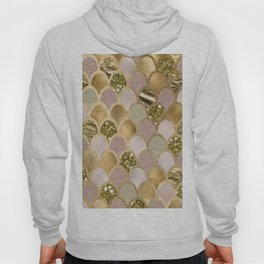 Rose gold glittering mermaid scales Hoody