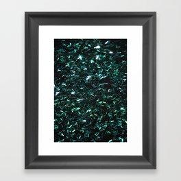 Sparkling Rain Teal Framed Art Print