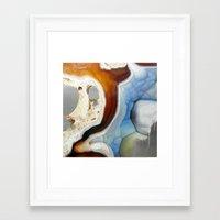 geode Framed Art Prints featuring Geode by Stephanie Calvert