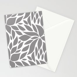 Bloom - Gray Stationery Cards