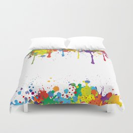 Paint Watercolor Splatter Duvet Cover
