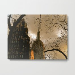 Empire State From Bryant Park Metal Print