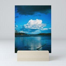 Cloudy Möhne Reservoir Lake Mini Art Print