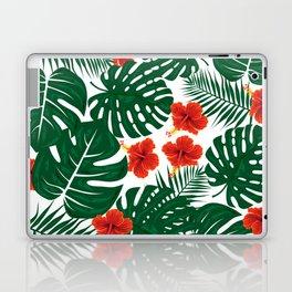 Tropical Leaves Hibiscus Flowers Laptop & iPad Skin