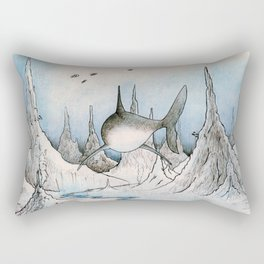 Shark Exploration Rectangular Pillow